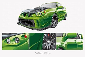 Green Custom Car
