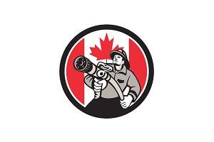 Canadian Fireman Canada Flag Icon