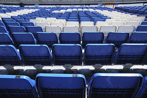 Blue and White Seats