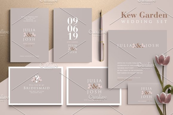 Kew Garden Wedding Set