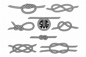 Nautical Knots SVG, Sea Knots files