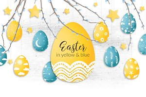 Easter in yellow & blue