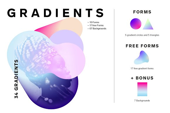 Gradient Shapes Collection