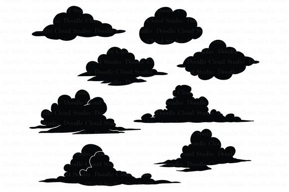 Clouds SVG Files Clouds Clipart PNG