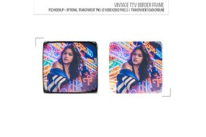 Retro film border ttv frame template