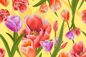Drawing of Tulips (PSD)