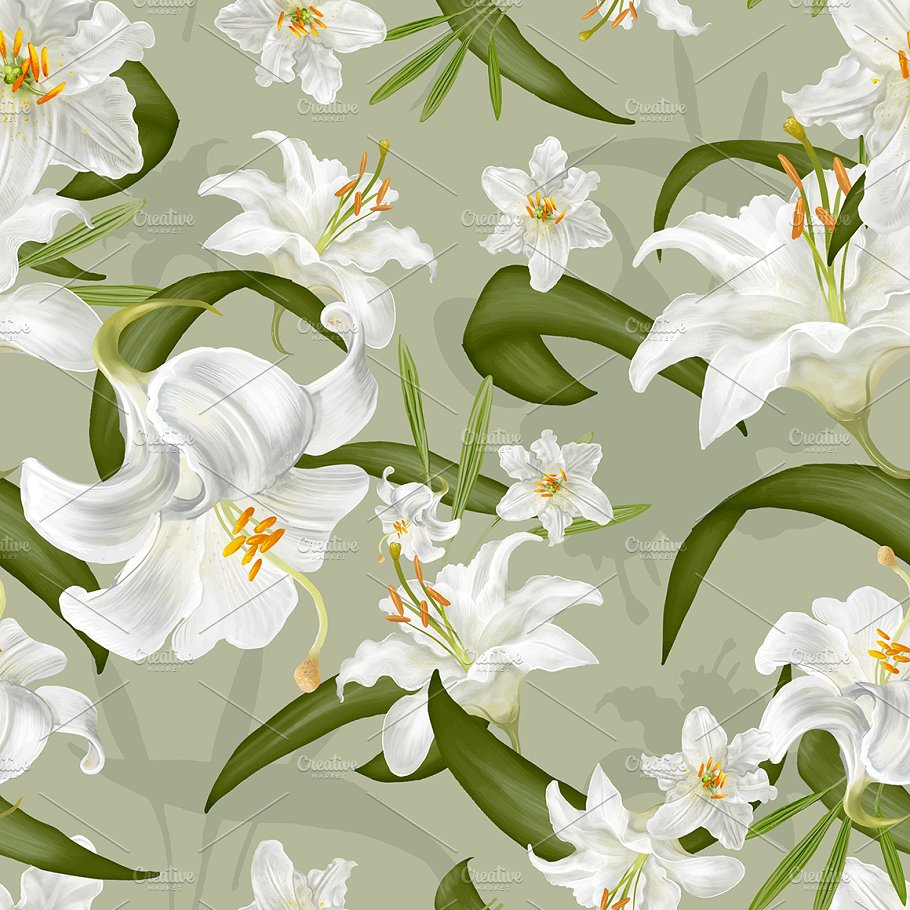 Drawing of lily flowers psd nature photos creative market drawing of lily flowers psd nature izmirmasajfo
