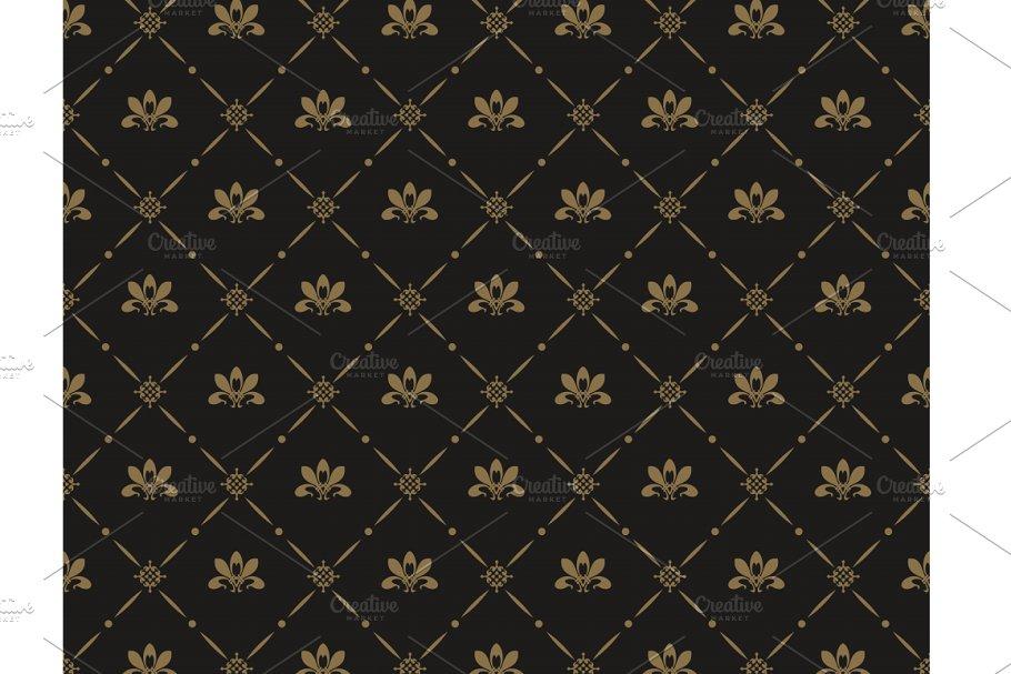 Classic seamless dark pattern