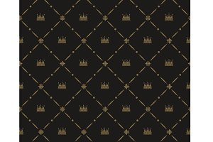 Seamless pattern in royal style