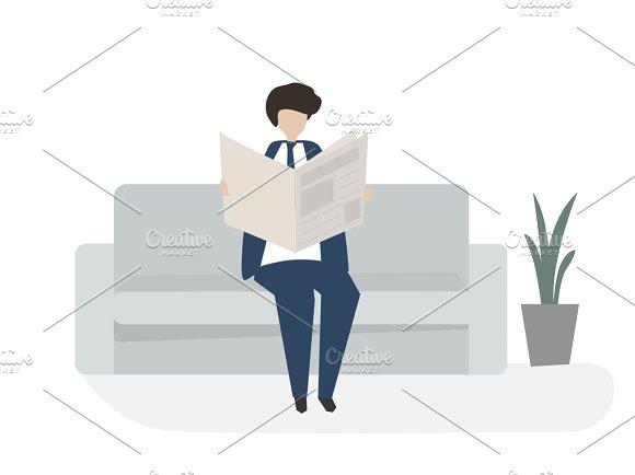 Illustration Of Reading Avatar