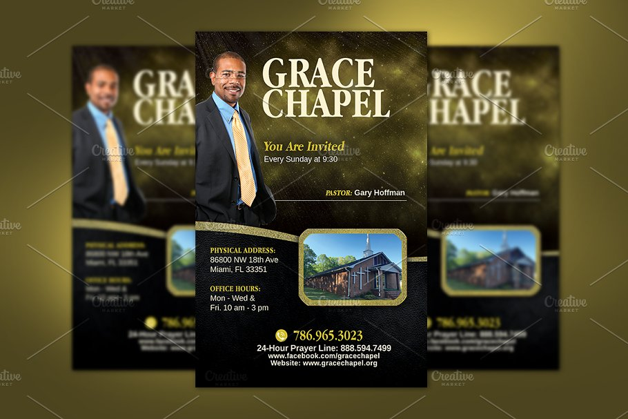 Church Invitation Flyer Template Flyer Templates Creative Market