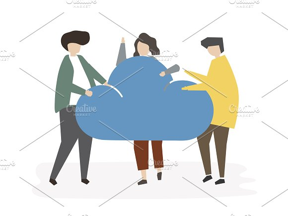 Illustration Of Cloud Connection