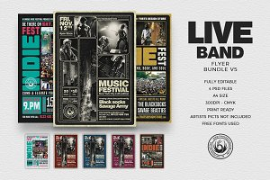 Live Band Flyer Bundle V5