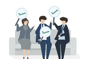 Illustration of business agreement