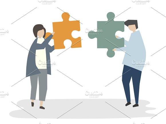 Illustration Of People Teamwork