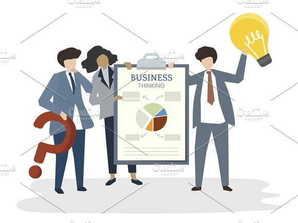 Illustration Of People Business Plan