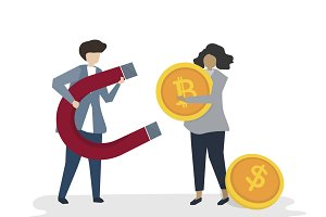 Illustration of business financial