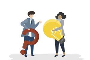 Illustration of people business plan