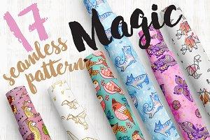 17 Magic seamless pattern