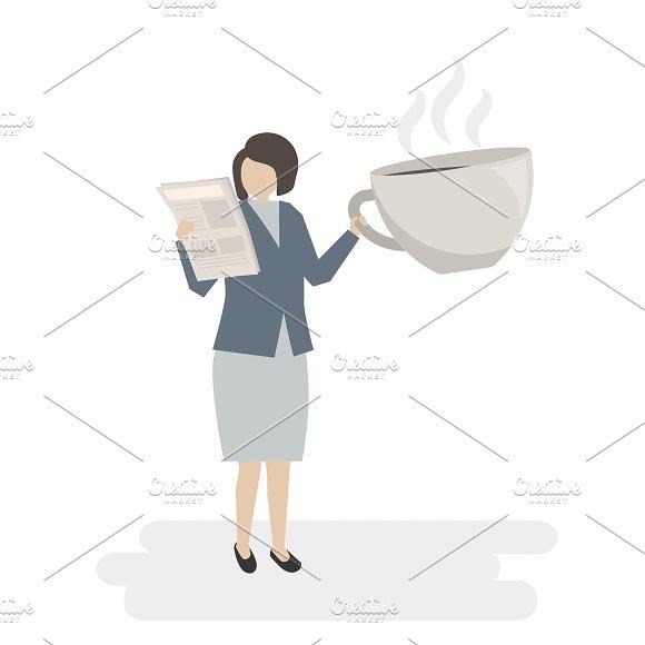 Illustration Of Businesswoman