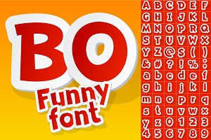 Funny toy or cartoon font