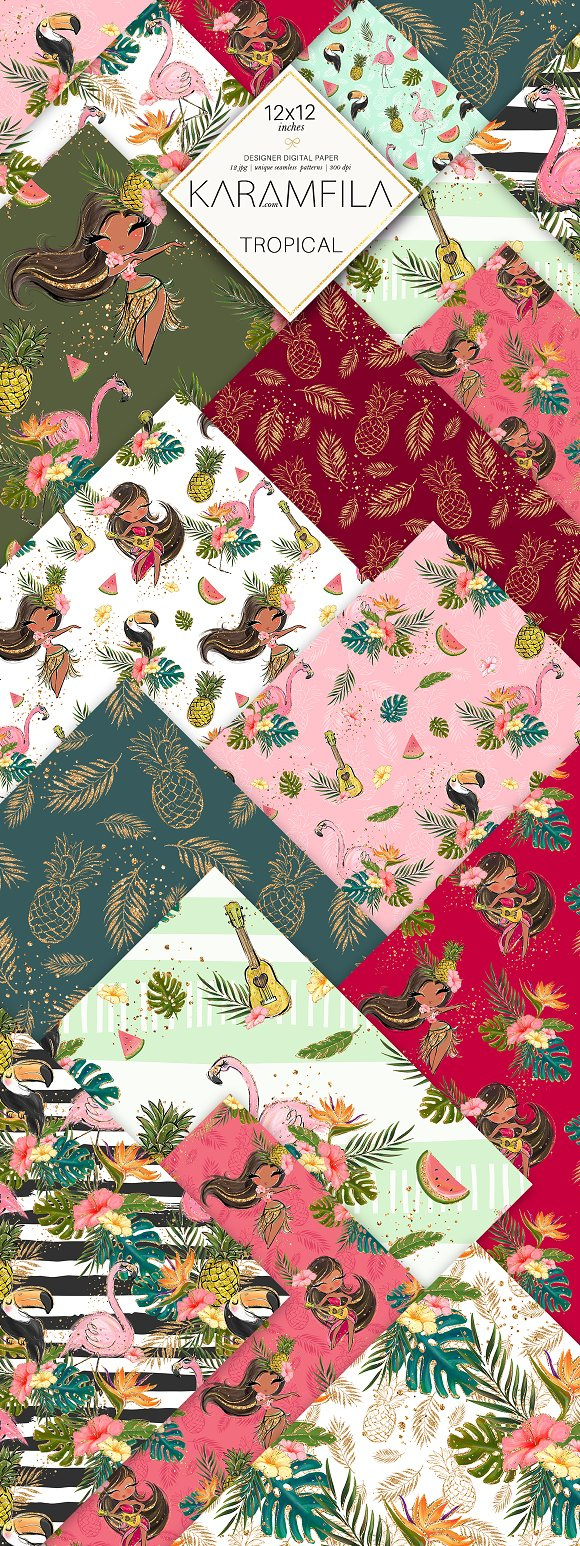 Flamingo Summer Patterns