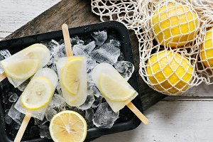 Homemade fresh lemon and citrus