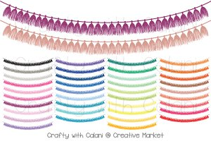 Tassel Pennant Bunting in 38 Colors