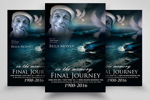 Funeral & Departure Flyer Template
