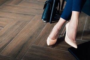 Elegant women's legs