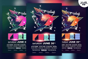 Pure Minimal Abstract Flyer Template