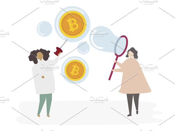 Illustration Of Woman With Currency