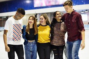 Group shot of teenage friends