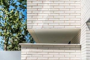 Detail of modern architecture brick facade
