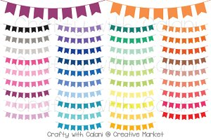 Flag Pennant Bunting in 38 Colors