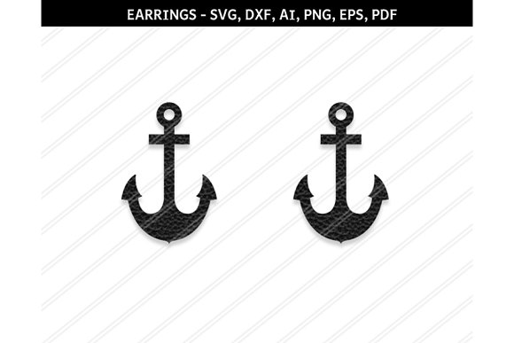Anchor Earrings Svg Dxf Ai Eps Png