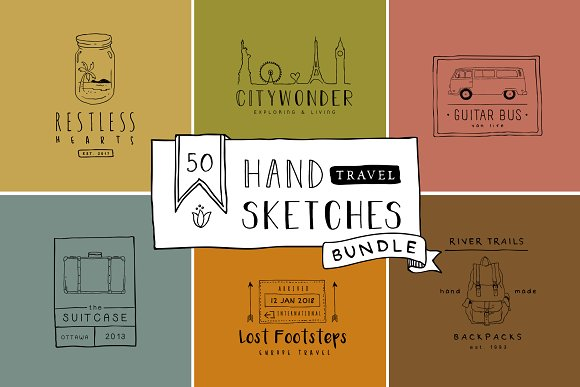 Handmade Travel Logo Bundle Vol 1