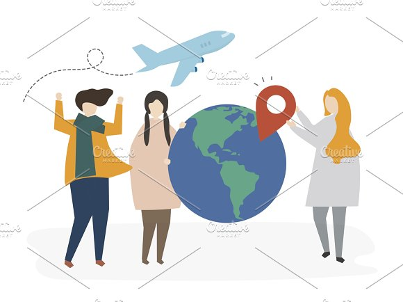 Illustration Of Friends Travel