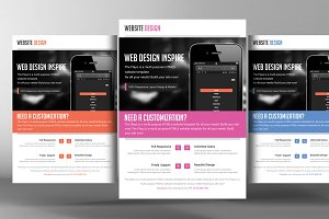 Website Responsive Flyers Template