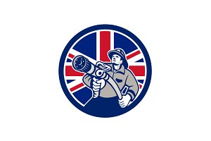 British Firefighter Union Jack Flag