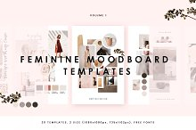 Feminine Mood board Templates by William Hansen in Web Elements
