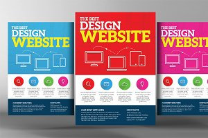 Premium Website Design Flyer