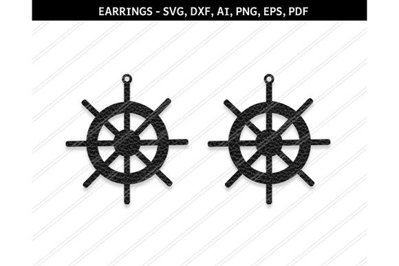 Ship Wheel Earrings Svg Dxf Ai Eps