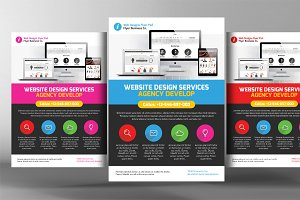 Website Responsive Promo Flyers