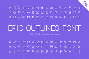 1000+ Epic Outlines Font (+ Freebie)