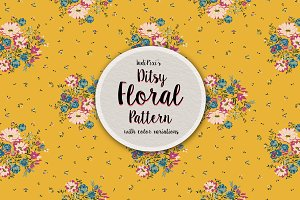 Romantic Ditsy Floral Pattern