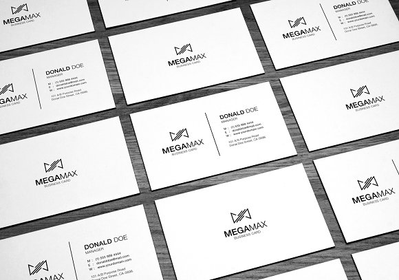 Black White Minimal Business Card