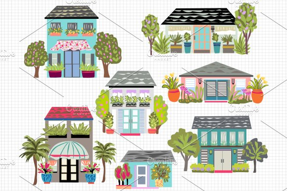 Houses Clip Art 7 ~ Illustrations ~ Creative Market