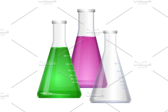 Erlenmeyer Conical Flat-bottomed Laboratory Flask With Narrow Neck