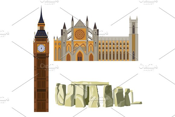Sightseeing Of Great Britain Westminster Abbey Big Ben Stonehenge